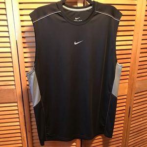 Nike Dri-Fit Black/Grey Sleeveless Performance Top